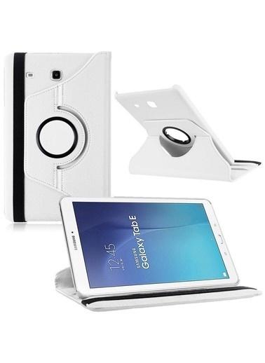 Techmaster Samsung Tab E T560 T562 9.6 360 Ayarlanabilir Kılıf Standlı Beyaz